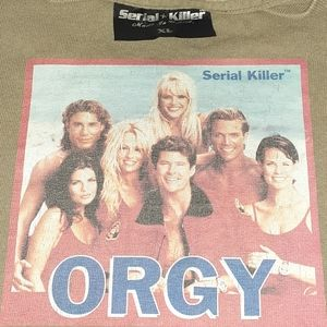 90s Serial Killer Orgy Baywatch Vintage Shirt